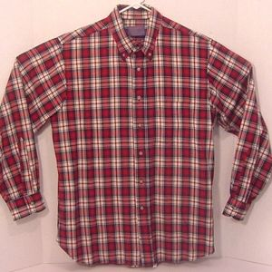 Pendleton Mens 100% Virgin Wool Shirt Plaid Red L